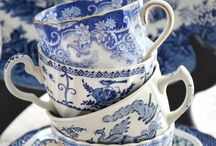 my blue dishes / vintage blue and whites / by Bonnie Piskorowski