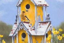 Birdhouses, bird feeders / by Rebecca Dugas
