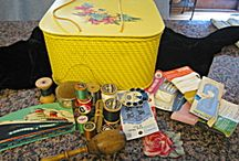 Vintage Sewing Accessories / Vintage sewing boxes, thread spools, needle packs, and more!  See my store, More Than McCoy, then click on the Vintage Sewing category on the left side of page, and view hundreds of vintage sewing items for sale! / by More Than McCoy