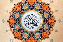 Art of Islam Calligrapy / Tezhibli Hat ( Calligrapy with illimination ) ... / by Banu Abdusselamoglu