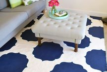 Stenciled Floors / Use stencils to add character to your floors / by Wall to Wall Stencils, Inc.