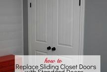 revamping closet doors / by Sarah DiMaria