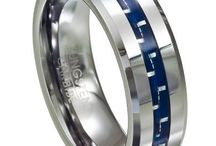 """Men's Gift Rings for Any Occasion / Need the perfect men's band to help """"ring"""" in his birthday or an anniversary? JustMensRings.com is your source for stylish and affordable ring gifts, with a vast selection of modern and traditional designs in durable contemporary materials like titanium, tungsten, cobalt chrome and stainless steel. Whether you're planning a Valentine's surprise, celebrating his graduation or just looking for a romantic present, here are ten great gift men's rings. / by JustMensRings.com"""