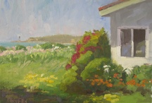 Kathy's Paintings / Kathryn Ellis, Plein Air oil painter, is also the Innkeeper at Old Thyme Inn. / by Old Thyme Inn Bed & Breakfast