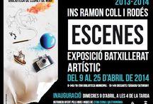 Escenes / Exposició de Batxillerat artístic de l'INS Ramon Coll i Rodés / by Expovirtual @bibliolloret