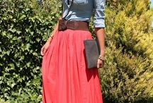 Modest Fashionista / Trying to stop wearing jeans so anything with jeans I'm imaging with a skirt. Anything with a short dress or skirt I'm imagining with a longer one / by Hailey Earnhardt