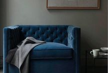blue velvet chairs (and more) / blue velvet chairs, blue velvet sofas, blue velvet headboards, blue velvet everything! / by re.Create Design