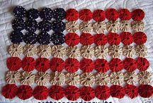 fabric yoyo crafts / by Kathy DesJardins