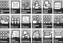 Innovation & design thinking / Design thinking tools - methods - for Startups - Service design - design thinking tools - methods - business development / by Iris Wilbrink
