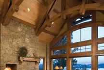 Post, Beam, and Timbered Homes / by Shellie Leek