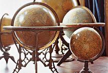 VINTAGE GLOBES & MAPS / by Susan Harris Seeley