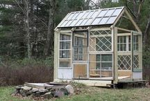 "Greenhouses Made From Old Windows / Collection of ""recycled"" greenhouses constructed from old windows  / by Plant Care Today"