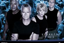 Stargate / The Stargate TV shows and movies are military/science fiction adventures created by Brad Wright and Jonathan Glassner. The first, SG-1 premiered on July 27, 1997;   With 214 episodes over 10 seasons, Stargate SG-1 had surpassed The X-Files as the longest-running North American science fiction television series, a record that is still held today.  SG-1 is an elite U.S. Air Force special operations team, one of about 20 teams from Earth who explore the galaxy and defend against aliens. / by Jeff Dyer