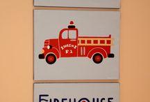 Fire truck bedroom ideas / by Tara Curtis