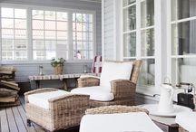Garden / Leuke ideeën voor inrichting van de veranda. / by Bianca Bakker-Bakkelo