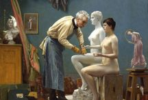 Art:  Jean-Léon Gérôme /  French painter and sculptor (1824-1904)  / by Pearl Pea
