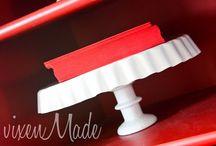 cake plates / by Tausha Hoyt {Sassy Style Redesign}