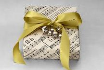 gift wrapping ideas / by Lori Brock Designs