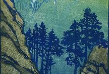 Woodblock , Linocut and other / by Margaret Brown