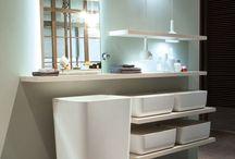 Ki Bathroom / Design by Nendo for Scavolini   A new kitchen and bathroom concept. / by Scavolini