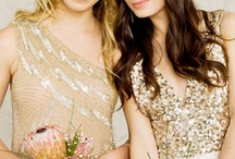 Wedding: Flynnwood Bridesmaids! / So here's the plan! We're doing choose your own gold, nude, or taupe dress. No maxi dresses. We'll just stay near the knee or above. Let me know questions, post thoughts and suggestions! / by Abby Wood
