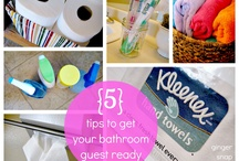 bathroom ideas / by Ginger @ GingerSnapCrafts.com