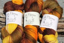 Cat's Pajamas Yarn / Luxury at your fingertips! Cat's Pajamas is a blend of merino, cashmere and nylon (80/10/10%). This yarn is hand-painted for us by a local fibre artist. Ideal for decadent socks and heavenly for almost anything else. / by Lucy Neatby