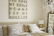 Master Bedrooms / For the master bedroom I'd love to have one day and miscellaneous love quotes for our bedroom gallery wall. / by Jessica O