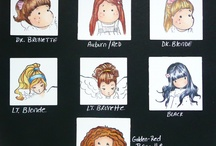 Copic Hair and Skin charts / by Camano Art Cards