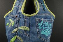 Idées récup couture denim jeans / by Mag