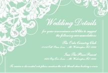 Wedding Enclosure Cards / Do you have additional information to tell your wedding guests that you don't have room for on your invitations? Check out NEW 123Print Wedding Enclosure Cards! / by 123Print – Personalized Online Printing