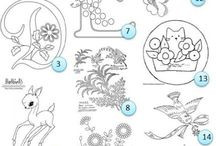 Embroidery patterns / Stitching / Sewing Patterns / by Nikita Elektra Anastasia