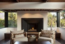 Fireplaces / by Interiors 360 Lisa Springer