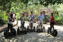 Segway Tour / Riviera Maya offers an original ecological tour. The adventurous and nature-loving tourists can discover Tres Rios Nature Park on board the modern, ultra lightweight Segway vehicles. / by Hacienda Tres Ríos Resort, Spa & Nature Park