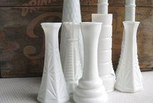 E. O. BRODY MILK GLASS / White milk glass / by Susan Harris Seeley