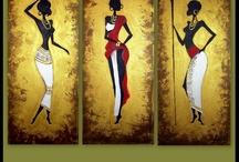 Arte Etnico / Pintura Afro  / by María Del Rocio Muñoz