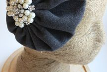 Retro Fascinators / Handmade fascinators with new (wool, felted wool, crochet, satin and silk)and up-cycled material (real  fur and knits) / by Andrea Butler