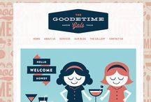 Vintage 50's: web design inspirations / Showcase of vintage 50's web sites  / by Pupixel Studio