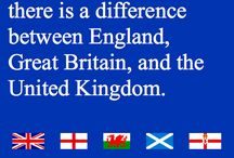 *UK/GB/England / The difference between the United Kingdom, Great Britain and England. / by Ånnette