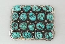 Belt Buckles and Concha Belts / Zuni, Hopi and Navajo belt buckles made of sterling silver with turquoise, coral, jet, mother of pearl and other stones and shells. / by Paula At Horsekeeping