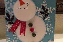 Christmas cards snowman / by Sandra Guinaugh