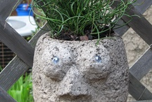 Playing with Hypertufa / Creating a variety of hypertufa containers. / by Vanessa Peterson