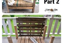 Pallets repurposed  tarafından / Some of these pins don't lead to a useful website and that's fine - they simply serve the purpose of sparking ideas. /Sharen Wood