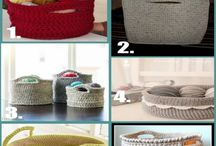 CRAFTS (CROCHET: FOR THE HOUSE) / RUGS, BASKETS, BOWLS, COURTAINS, DISH CLOTHES, CUSHIONS, PLACEMATS, ETC. JUST A SECTION OF THE CROCHET PATTERNS. / by JenisJewelryDesigns