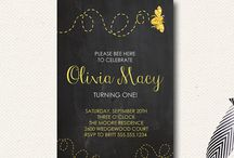 Bumble Bee Party Birthday Shower / by Design{on}Paper