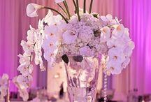 Tall wedding flower centerpieces / Wedding flower centerpieces in tall vases / by Mademoiselle wedding studio