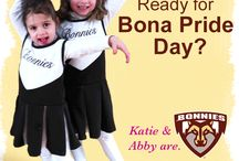 #bonaprideday14 / Wear your brown and white on Friday, Feb. 6 and show your Bona spirit! Pin, Tweet, Facebook or Instagram pictures of yourself rocking Bona's gear using the hashtag #bonaprideday14 to @bonasalumni! We can't wait to see all the Bonnie love!  / by St. Bonaventure University Alumni