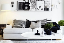 """B+W Home / Black and white makes a statement.  That statement is, """"I know what the hell I'm doing."""" / by Paige Ray"""