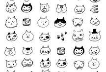 Cat illustrations / by Ashleigh Christelis