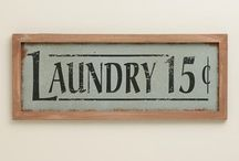 Laundry room inspiration / by Kat